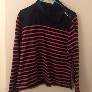 Jcrew pullover striped sweatshirt